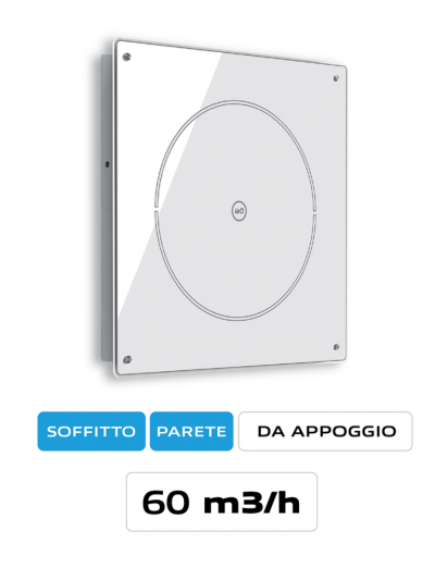 Purificatore d'aria a parete airO' Free Cappe Baraldi Milano